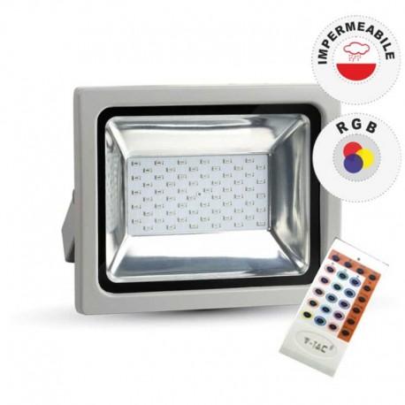 V-TAC VT-4752 RGB MULTICOLORE FARETTO LED 50W DA ESTERNO CON TELECOMANDO - SKU 5691