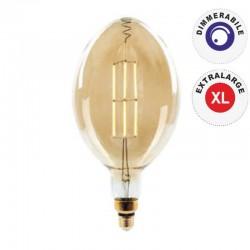 V-TAC VT-2178D LAMPADINA E27 FILAMENTO LED 8W BULB A180 CON VETRO AMBRATO DIMMERABILE - SKU 7464