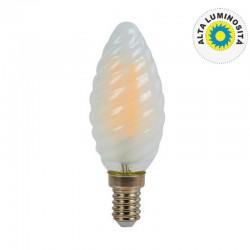 V-TAC VT-1928 LAMPADINA LED E14 4W CANDELA FROST TWIST FILAMENTO - SKU 71071 / 71081 / 71091