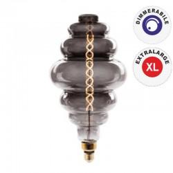 V-TAC VT-2188D LAMPADINA E27 FILAMENTO LED 8W RINGS BULB VETRO AMBRATO OSCURATO DIMMERABILE - SKU 7465