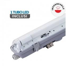 V-TAC PRO VT-6028 PLAFONIERA SINGOLA CON TUBO LED T8 G13 10W LAMPADINA 60CM - SKU 6463 / 6464