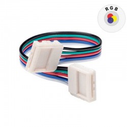 CONNETTORE FLESSIBILE PER STRISCE LED MULTICOLORE RGB 5050 CLIP 4 PIN - SKU 3502