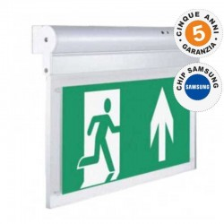 V-TAC VT-519 S LAMPADA LED CON MONTAGGIO SUPERFICIALE INCLINABILE DI 90° 160LM D'EMERGENZA ANTI BLACK OUT - SKU 836
