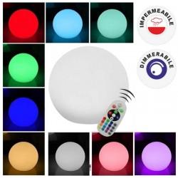V-TAC VT-7807 SFERA MULTICOLOR LED RGB 3W RICARICABILE CON TELECOMANDO IP67 - SKU 40201