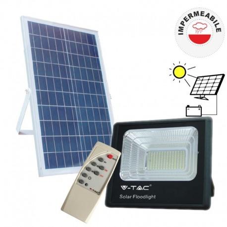 V-TAC PRO VT-300W FARO LED SMD 50W CON PANNELLO SOLARE DA ESTERNO - SKU 8578 / 94027