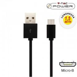 V-TAC VT-5332 CAVO USB A MICRO USB 1,5 METRI NERO - SKU 8448