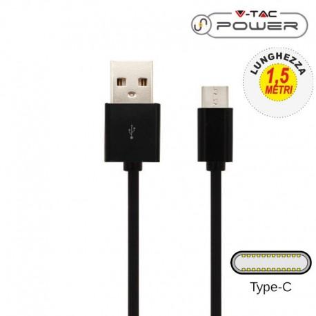 V-TAC VT-5342 CAVO USB A USB TYPE C 1,5 METRI NERO - SKU 8454