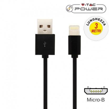 V-TAC VT-5333 CAVO USB A MICRO USB 1,5 METRI NERO - SKU 8449