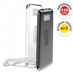 V-TAC VT-3505 POWER BANK CON RICARICA WIRELESS 10000 MAH 2 USCITE USB 2,1A - SKU 8854 / 8855