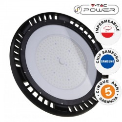 V-TAC PRO VT-9-99 LAMPADA INDUSTRIALE LED UFO SHAPE 100W SMD 120° HIGH BAY CHIP SAMSUNG - SKU 554 / 555