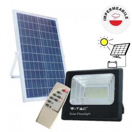 V-TAC VT-40W FARO LED 16W A BATTERIA CON PANNELLO SOLARE E TELECOMANDO - SKU 8574 / 94008