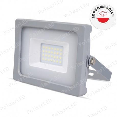 V-TAC VT-4911 FARETTO LED SMD 10W ULTRA SOTTILE DA ESTERNO COLORE GRIGIO - SKU 5780 / 5781 / 5782