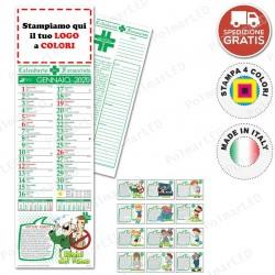 CALENDARIO SILHOUETTE FARMACIA - Conf. 100 pezzi
