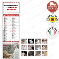CALENDARIO SILHOUETTE PAPA FRANCESCO - Conf. 100 pezzi