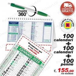 100 CALENDARI OLANDESI +100 CALENDARI DA TAVOLO + 100 PENNE PolMar Poligrafica
