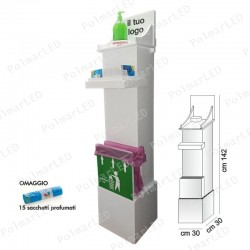 COLONNINA DISPENSER IGIENIZZANTE 4 in 1