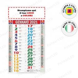 CALENDARIO OLANDESE MULTICOLOR SLIM - Conf. 100 pezzi