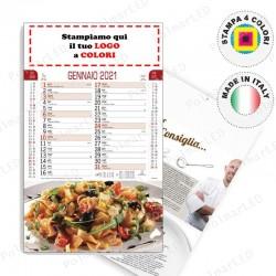 CALENDARIO ILLUSTRATO GASTRONOMIA - Conf. 100 pezzi