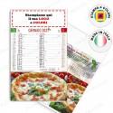 CALENDARIO ILLUSTRATO PIZZA - Conf. 100 pezzi