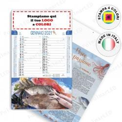 CALENDARIO ILLUSTRATO PESCE - Conf. 100 pezzi