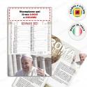 CALENDARIO ILLUSTRATO PAPA FRANCESCO - Conf. 100 pezzi