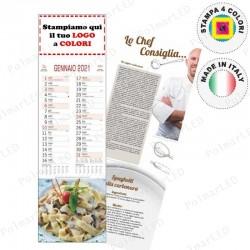 CALENDARIO SILHOUETTE GASTRONOMIA- Conf. 100 pezzi