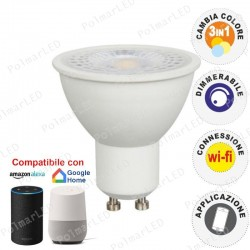 V-TAC SMART VT-5174 LAMPADINA LED WI-FI GU10 4,5W FARETTO SPOTLIGHT 110° CHANGING COLOR 3IN1 DIMMERABILE - SKU 2750
